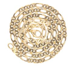 14 kt yellow gold figaro link necklace - Length: 45.3 cm