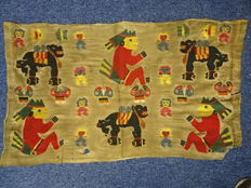 Embroidered linen blanket or cloth for a child - Peru