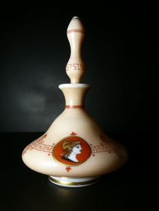 An opaline glass perfume bottle, France, late 20th century
