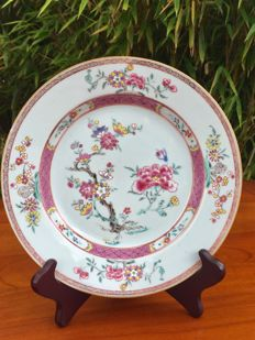 Famille rose porcelain plate - China - 18th century