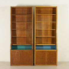Unknown designer – Pair of vintage bookshelves
