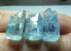 Beryl var Aquamarine lot -  14.4 ct (3)