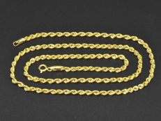 18k Gold. Chain Rope. Length 50 cm. No reserve price.