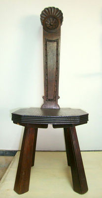 A Carved Solid Mahogany Chair, begin 20th century