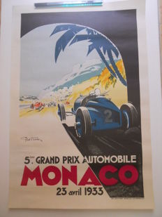 Poster by Geo Ham - 5ème grand prix automobile de Monaco 23 avril 1933