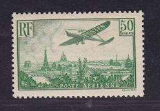 France 1936 - Airmail Yvert# 14 - Signed Pfenninger