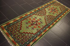 Beautiful oriental carpet, designer Berber carpet, runner, 85 x 250 cm, made in Morocco around 1970/1980 new wool