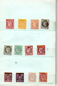 France 1875/1944 - French stamps in circulation booklet
