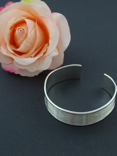 Silver 925 open bangle, 6 cm