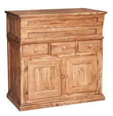 Solid lime wood sideboard, natural finish, Italy, 2000