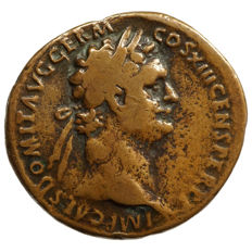 Roman Empire - DOMITIAN (81-96) AE As, Rome, Fortune