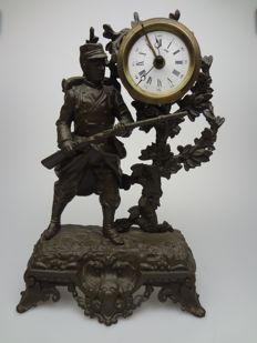 French alarm clock with soldier - 1914/1918