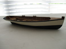 Wooden scale model of a Sloop