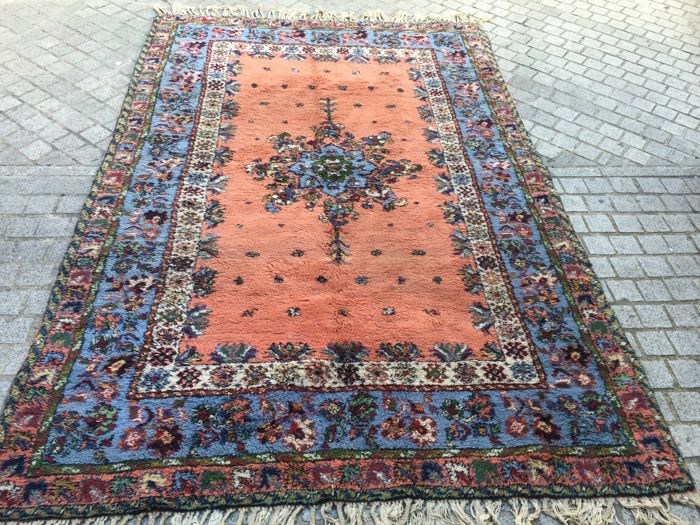 Large antique Moroccan Rabat carpet, handmade, 180 x 280 cm