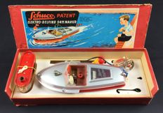 Schuco, Western Germany - L. 25 - Elekrto-Delfino 5411 Navico with batteries, 1950s