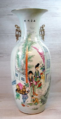 Large porcelaine Famille Rose Vase - China - approx. 1920