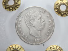 Kingdom of Italy, 1889 – silver 50 Cents – Umberto I