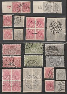 The Netherlands 1906/1923 – Queen Wilhelmina imperforate and TBC – NVPH 82/83 (14x) + 84/86 (2x)