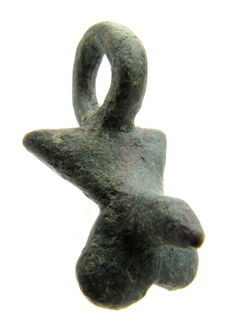 Roman Bronze Legionary Fertility Pendant / Phallus - 32 mm