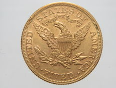 "United States – 5 Dollars, 1893 ""Liberty Head"" – gold"