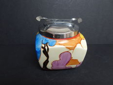 Clarice Cliff - Pot with lid - Blue Autumn pattern