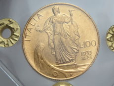 Kingdom of Italy – 100 Lira, 1933 – Year XI E.F. Vittorio Emanuele III - gold