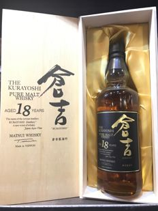 Kurayoshi Pure Malt 18 years old Japan Exclusive Wooden Box Limited Release