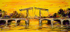 Mathias - Canal of Amsterdam, yellow bridge