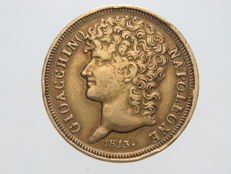 Kingdom of the Two Sicilies – 20 Lira 1813 Gioacchino Napoleone – gold