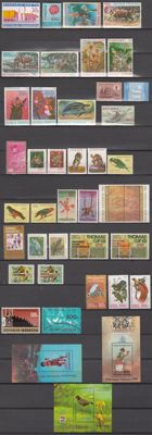 Indonesia 1971/1998 - collection of stamps from blocks, including badminton and football