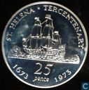 "St. Helena 25 pence 1973 (PROOF) ""300th Anniversary of St. Helena"""