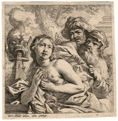 Cornelis Schut ( 1597 - 1655) - Circle of Pieter Rubens:  Susanna and the Elders - ca 1635