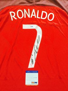 Cristiano Ronaldo  / Portugal - Signed Home Jersey -  with Certificate of Authenticity PSA/DNA