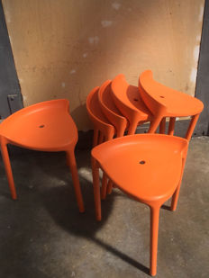 Pedrali - stool 'happy 491' orange (6x)