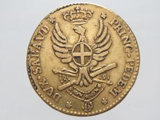 Kingdom of Sardinia – Double, 1787, Vittorio Amedeo III – gold