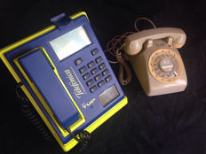 Two vintage phones of different types and times.