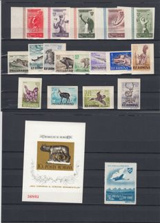 Romania, Liechtenstein, German Empire and Albania – Small batch with imperforate and complete series, and more