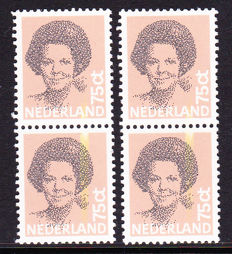 The Netherlands 1982/2003 - Queen Beatrix and the Royal Family: Misprints - NVPH 1239 colour smear and V2233/2242 shifted red print
