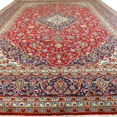 "Keshan - 362 x 260 cm - ""XL eye-catcher - Persian carpet, made of the most beautiful cork wool, in nice condition"" - With certificate"