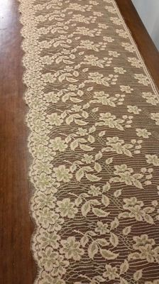 Chantilly lace blonde colour plus gold wire, approx. 1920