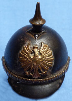 Original WW1 Imperial German Miniature Pickelhaube #1