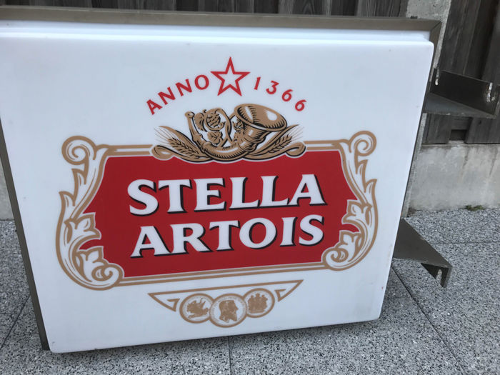 Wonderful Stella Artois light box - Belgium - 2nd half 20th century