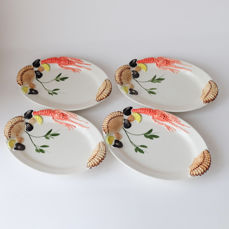 Bassano Ceramic Serving Seafood Fish Lobster 47 cm From Italy New