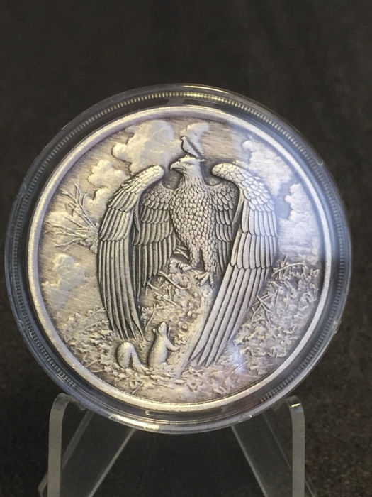 United States - 2017 'Nordic Creatures - The Great Eagle' - antique silver finish - 1 oz silver