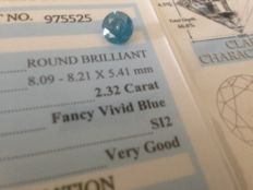 2..32 ct, IGL Diamond, Fancy Vivid Blue, SI2