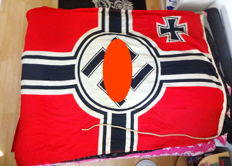 Third Reich marine war flag on cruisers and destroyers
