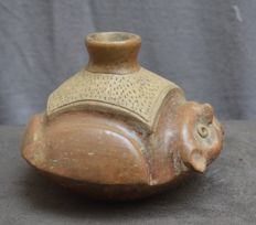 Pre-Columbian pottery vessel in the shape of a owl - 16,8 cm