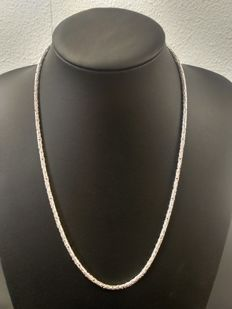 Silver necklace, 925k, length:  55.5 cm, width: 3 mm