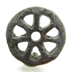 "Roman Bronze open-work Pendant - ""the Wheel of Fortune"" - 25 mm"