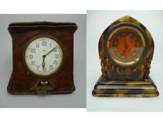 French clock and English travel clock – 1st half of 1900s